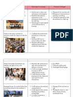 table opportunities to extend the learning experience beyond the classroom