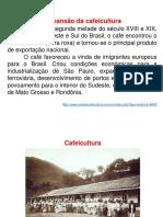 Os Ciclos Econômicos Do Brasil e Sua Relação Com a Dinâmica de Ocupação Do Espaço