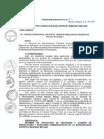 ORDENANZA MUNICIPAL N°539