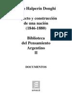 to Argentino II Proyecto y Construccion de Una Nacion 1846 1880