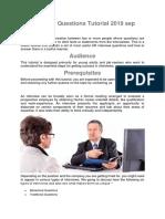 HR Interview Questions Tutorial 2019 Sep