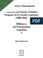 to Argentino I Origenes de La Nacion Argentina 1800 1846