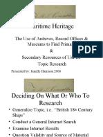 Maritime Heritage Presentation
