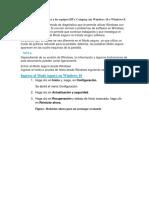 Este Documento Se Aplica a Los Equipos HP y Compaq Con Windows