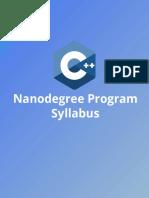 C++ Nano degree syllabus