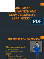 Customer Satisfaction and Service Quality gap model