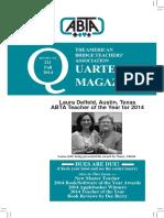 ABTA Quarterly Fall 2014