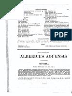 1095-1125, Albericus Aquensis, Vita Operaque, MLT