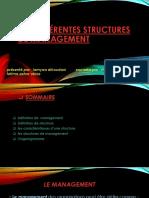 Les Différentes Structures de Management Rajaa Lotfi