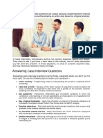 Case Study Based Interview Questions
