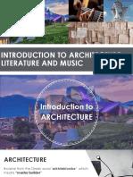 Achitecture and Music