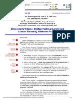 Billion Dollar Internet Strategy Setting Summit Jay Abraham
