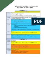 Programacion Vi Encuentro Nacional 2018