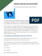 Princípios Fundamentais ART 1º AO 4º CF 88 COM QUESTÕES