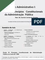 PONTO 03 - Princípios Da Administração Pública - ADMINISTRATIVO