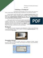 Technology as Teaching Tool