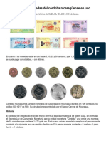 Billetes y Monedas Del Córdoba Nicaragüense en Uso
