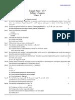 CBSE 2017 Class 10 Sample Paper Chemistry