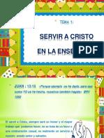 Tema 1 El Servicio a Cristo