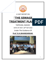 A Visit Report on Sewage Plant