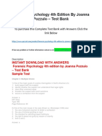 Forensic Psychology 4th Edition by Joanna Pozzulo – Test Bank