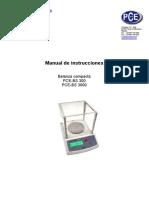Manual Balanza Sobremesa PCE 300 3000