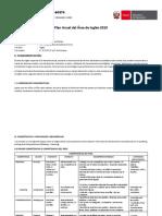Plan Anual de Ingles IEPPSM N° 60374 - 2019
