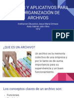 Equipos y Aplicativos Para La Organización de Archivos