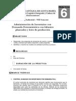 Práctica N°6_Administración de Inventarios con Demanda Determinística con faltantes planeados y lotes de producción