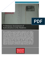 MDN - Preliminary Assessment of Radicalisation in the Maldives Final