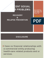 505 Adolescent Sexual Behavior Problems Recovery Relapse Prevention