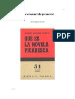 Qué es la novela picaresca Zamora Vicente