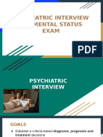 Psychiatric Interview, MSE