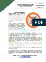Acorb-doc-ger-001 Politica de Prevención Alcohol, Drogas, Tabaquismo, Bebidas Energizantes y Armas