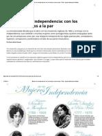 Mujeres de La Independencia_ Con Los Hombres, Juntos a La Par - Télam - Agencia Nacional de Noticias