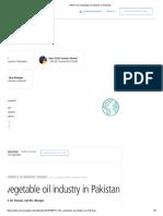 (PDF) the Vegetable Oil Industry in Pakistan