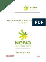 Plan de Desarrollo Neiva La Razón de Todos - Gobierno Transparente 2016-2019 - Didáctico