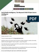 Social Media Intelligence, The Wayward Child Of Open Source Intelligence | Privacy International.pdf