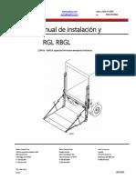 WS WALTCO RGL RBGL-Series Install Manual Español