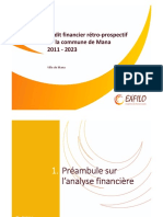 E18-1107 Audit financier rétro-prospectif de la commune de Mana