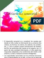 Desarrollo Sensorial- Esquema Corporal II CICLO