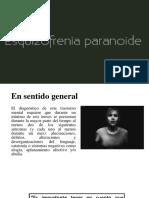 Esquizofrenia Paranoide sintomas