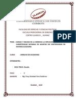 Cargas y Deudas de La Herencia La Implicancia de La Ley de Competencias Notarial en Asuntos No Contenciosos en Materia Sucesoria