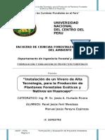 INSTALACION DE UN VIVERO DE ALTA TECNOLOGIA