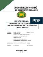 Informe de Practicas en planta concentradora