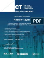 ACT E-learning Certificate