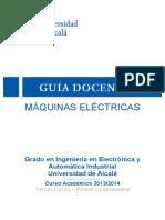 Guia Docente Maquinas Electricas 2013 14