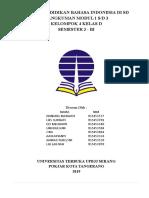 rangkuman Pembelajaran Bahasa Indonesia di SD Modul 1-3