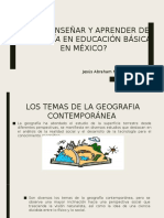 Enseñar y aprender de Geografía en educación básica en México. Capitulo 4