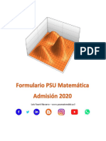 Formulario PSU Matemática 2020